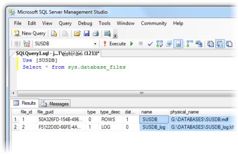 Database logical filenames