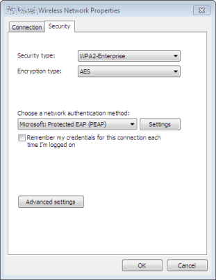 Manual connection settings for Windows 7 (part 1)