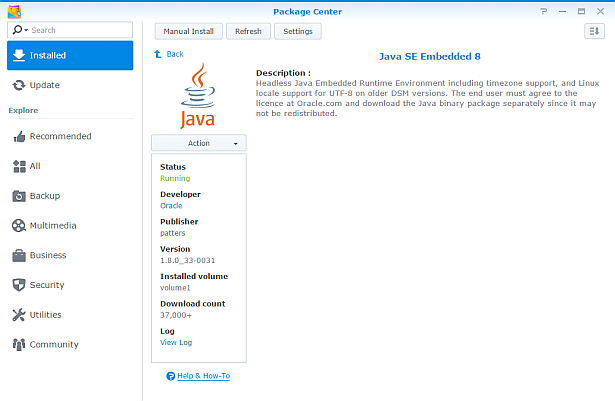 Java SE Embedded package for Synology NAS | PC LOAD LETTER