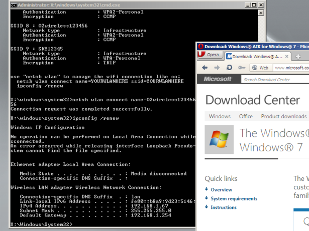Unified Windows PE 3 1 builder script for WAIK, with wifi
