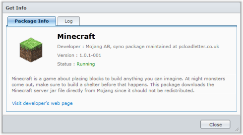 Minecraft package for Synology NAS | PC LOAD LETTER