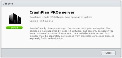 crashplan proe 4.2