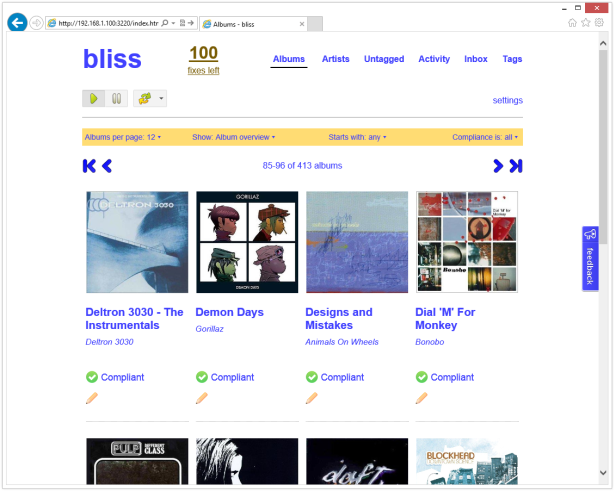 Bliss album art manager package for Synology NAS | PC LOAD LETTER